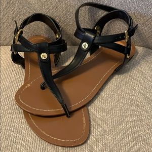 Ralph Lauren black thong sandal size 8